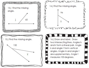 Angles Task Cards!