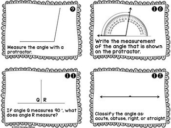 Angles Task Cards - Classify, Identify, Measure, Decompose, Add! CCSS Aligned