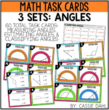 Angles Task Cards (Classifying, Measuring and Estimating Angles)
