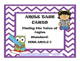 Angles Task Cards Finding Missing Angles