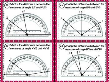 Angles Task Cards (Measuring Angles)