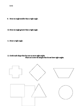 Angles Test- 2nd- 4th grade- Math- editable