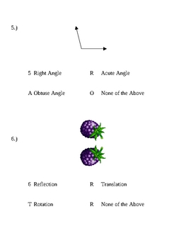 Angles Test Review