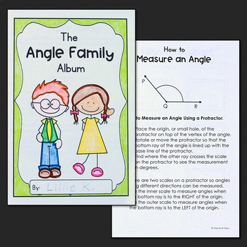 Angles: The Angle Family Album Student Activity Booklet