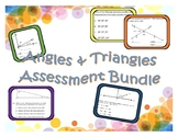 Angles & Triangles Assessment Bundle