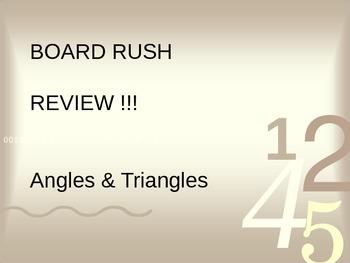 Angles & Triangles Board Rush