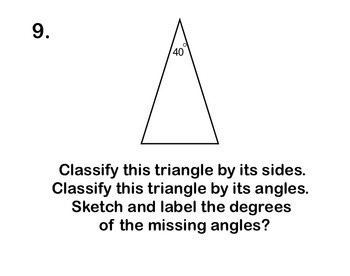 Angles Triangles Quadrilaterals Word Problems Applications Math on Move