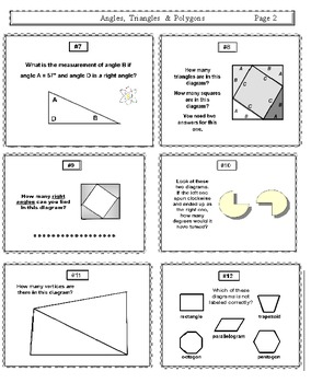 Angles Triangles and Polygons Worksheets