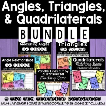 Angles, Triangles, and Quadriaterals BUNDLE