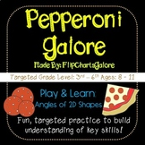 Angles Two-Dimensional Figures Learning Game - Pepperoni Galore - Math Geometry