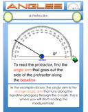Angles Types of Angles, Measuring Angles, Learn to Use a Protractor  -  Math