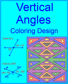 ANGLES: VERTICAL ANGLES - COLORING ACTIVITY