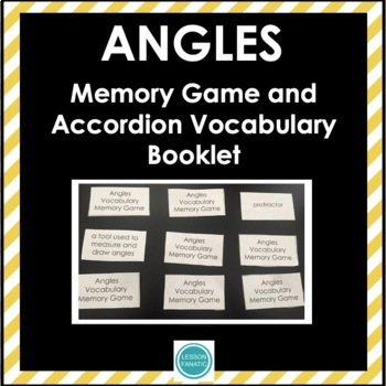 Angles Vocabulary Memory Game with Accordion Booklet and Definition Cards