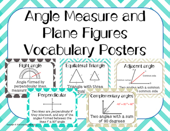 Angles Vocabulary Word Wall Engage NY Grade 4 Module 4 Focus Wall
