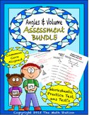 Angles & Volume Worksheets & Test - 8th Grade