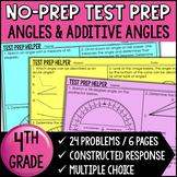 Angles and Additive Angles {4th Grade Common Core Test Prep Helper}