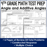 Angles and Additive Angles - 4th Grade Test Prep (No Prep)