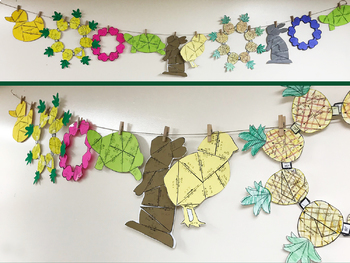 Angles and Angle Relationships Cooperative Pineapple Wreath Activity
