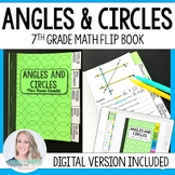 Angles and Circles Mini Tabbed Flip Book for 7th Grade Math