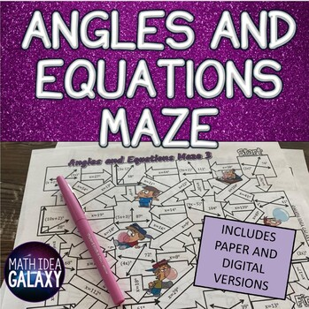 Angles and Equations Activity