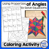 Angle Properties and Solving Equations - Coloring Activity