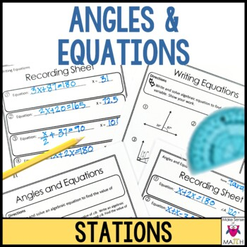 Angles and Equations Stations