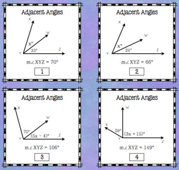 Angles and Equations - Stations Activity (7.G.5)