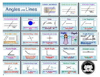 Angles and Lines Anchor Charts