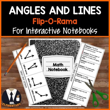 Geometry, Angles, Lines Vocabulary Interactive Notebook