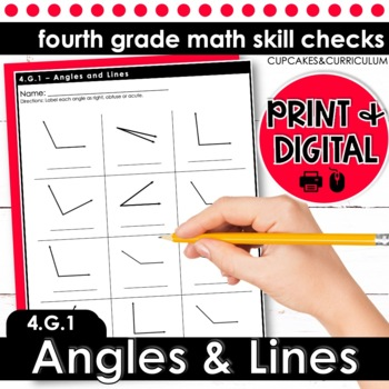 Angles and Lines | Fourth Grade Math 4.G.1
