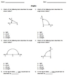 Angles and Lines: Grade 4 Common Core Bundle 4.G.A.1