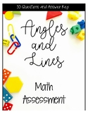 Angles and Lines Math Assessment
