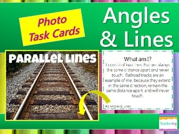 Angles and Lines Task Cards {with PHOTOS to differentiate}