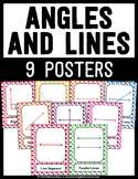 Angles and Lines Posters - Set of 9