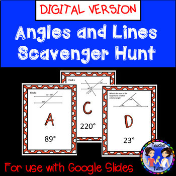 Angles and Lines Scavenger Hunt Google Digital Activity