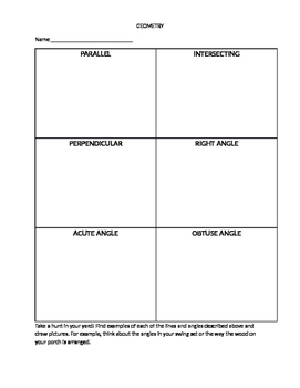House Hunters: Angles and Lines Scavenger Hunt in Your Yard!