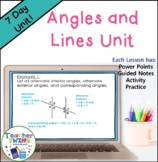 Angles and Lines Unit Common Core Standard 8.G.5