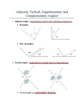 Angles and Measures