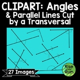 Angles and Parallel Lines Cut by a Transversal Clipart for Commercial Use