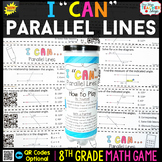 8th Grade Angles and Parallel Lines Game 8th Grade Math Re