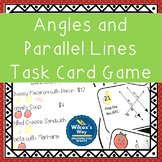 Angles and Parallel Lines and Transversals Task Card Game