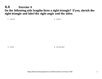 Angles and Right Triangle Geometry Lesson 4 of 6 Pythagorean Theorem Converse