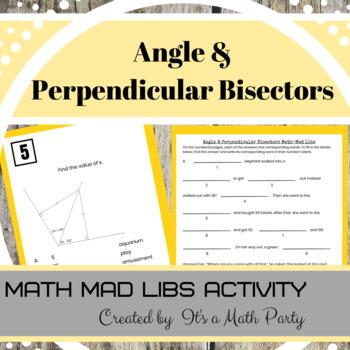 Angles and Segment Bisectors Activity - Math Mad Libs