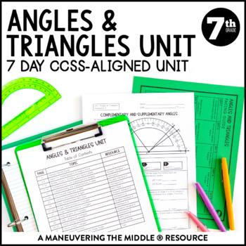 Angle relationships worksheet 7th grade