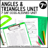 7th Grade Math Angle Relationships and Triangles Unit: 7.G