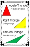 Angles and Triangles Anchor Chart