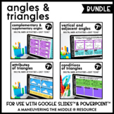 Angles and Triangles Digital Math Activity Bundle | 7th Gr