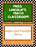 Angles and Triangles Notes