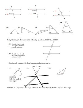 Angles and Triangles Test