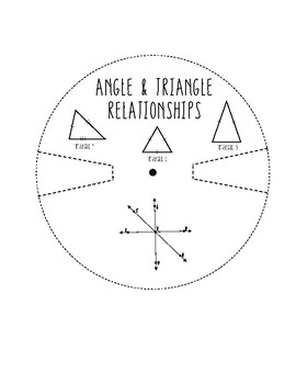 Angles and Triangles Wheel